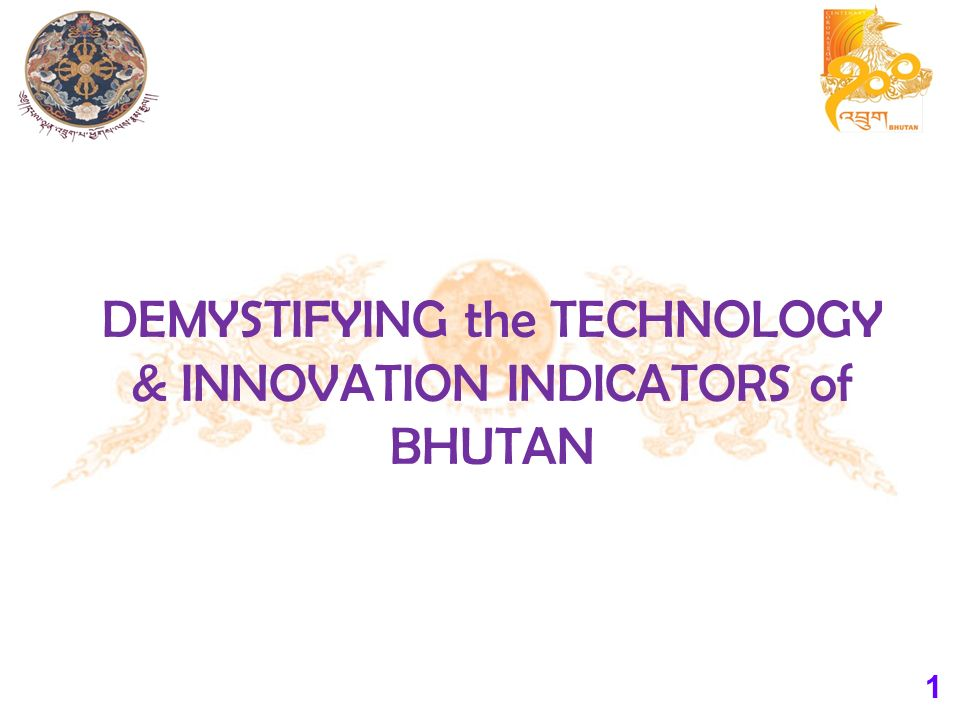 1 DEMYSTIFYING the TECHNOLOGY & INNOVATION INDICATORS of BHUTAN