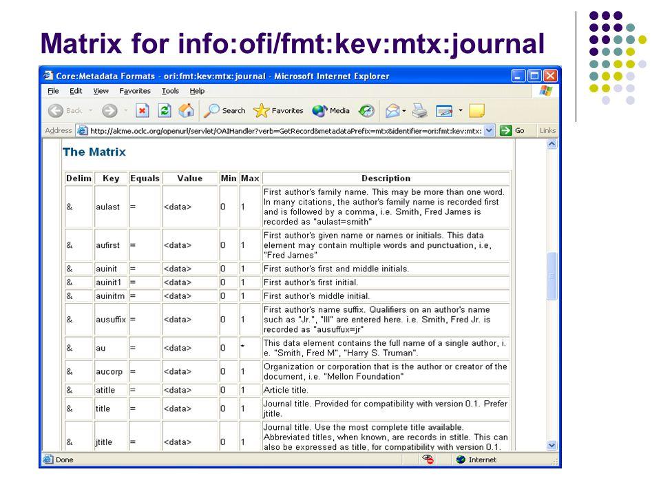 Matrix for info:ofi/fmt:kev:mtx:journal