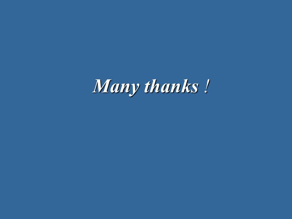 Many thanks !