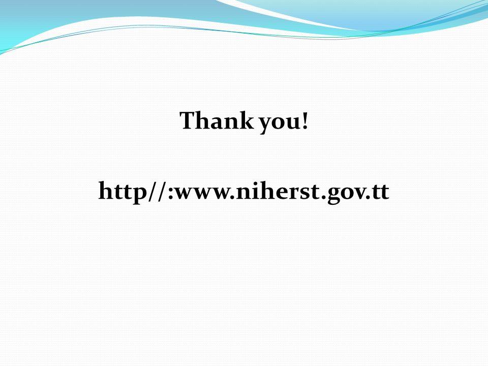 Thank you! http//:www.niherst.gov.tt