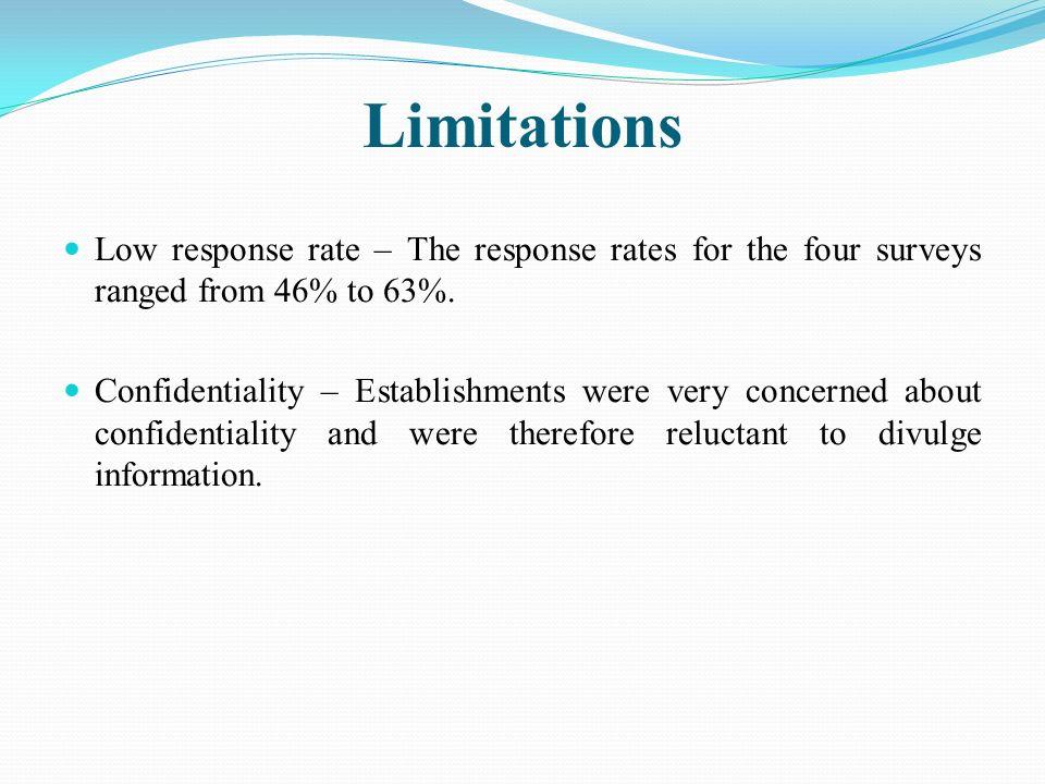 Key Findings The surveys focused on: 1.