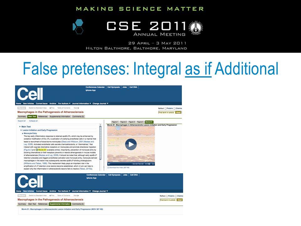False pretenses: Integral as if Additional