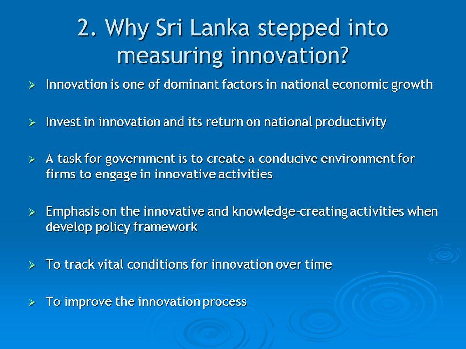 2. Why Sri Lanka stepped into measuring innovation.