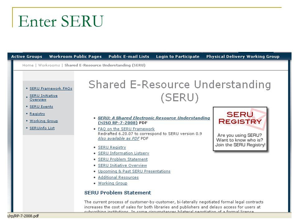 Enter SERU