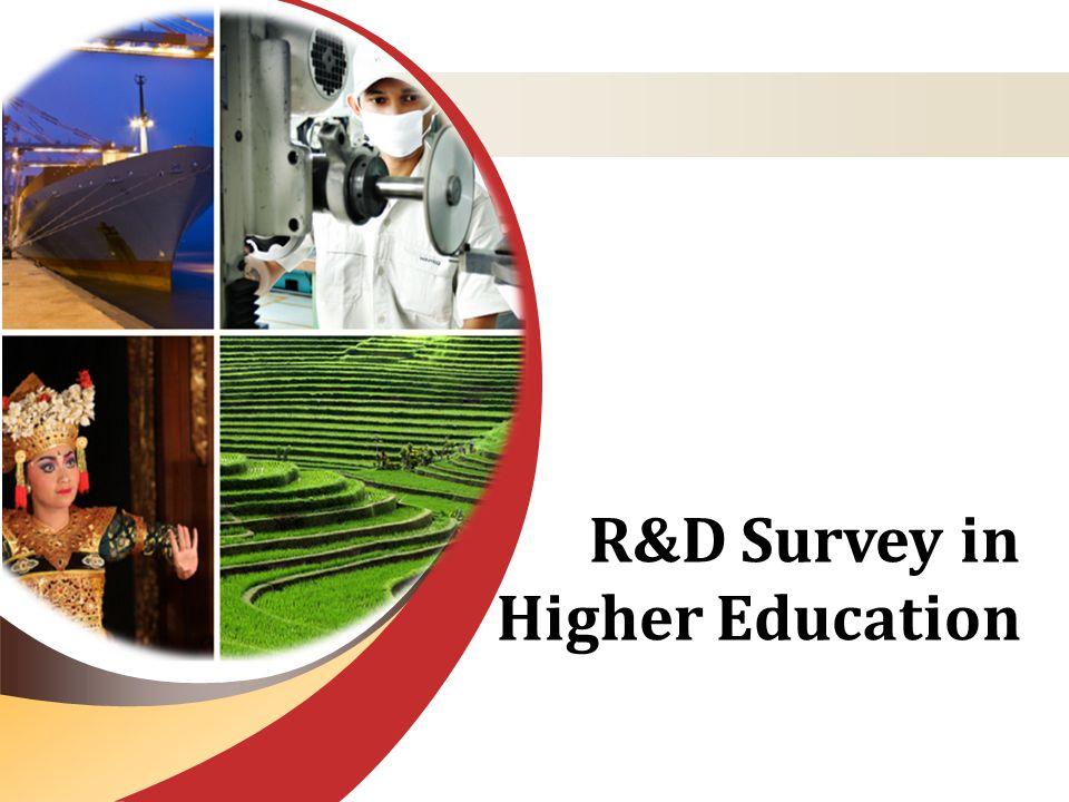 R&D Survey in Higher Education