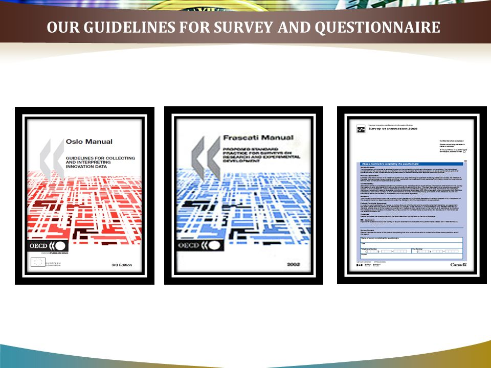 OUR GUIDELINES FOR SURVEY AND QUESTIONNAIRE