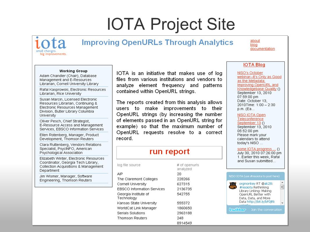 IOTA Project Site
