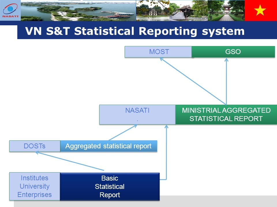 L o g o VN S&T Statistical Reporting system Aggregated statistical report NASATI.