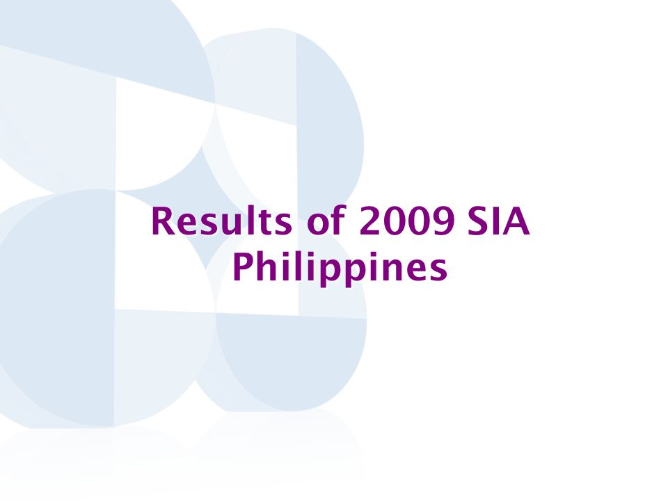 Results of 2009 SIA Philippines