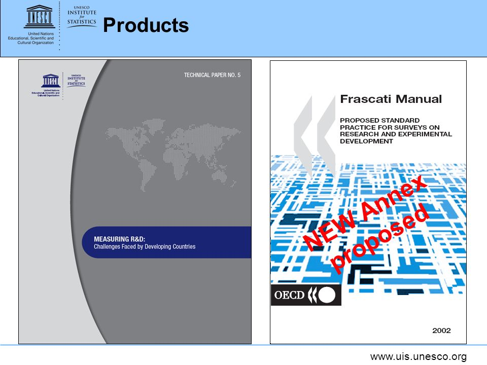 www.uis.unesco.org Products NEW Annex proposed