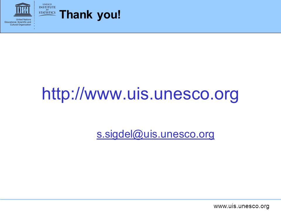 www.uis.unesco.org Thank you! http://www.uis.unesco.org s.sigdel@uis.unesco.org