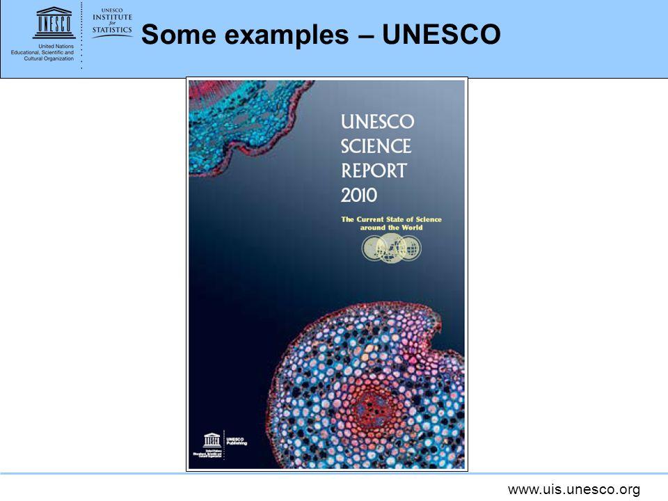www.uis.unesco.org Some examples – UNESCO
