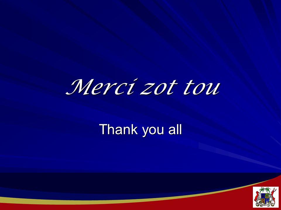 Merci zot tou Thank you all