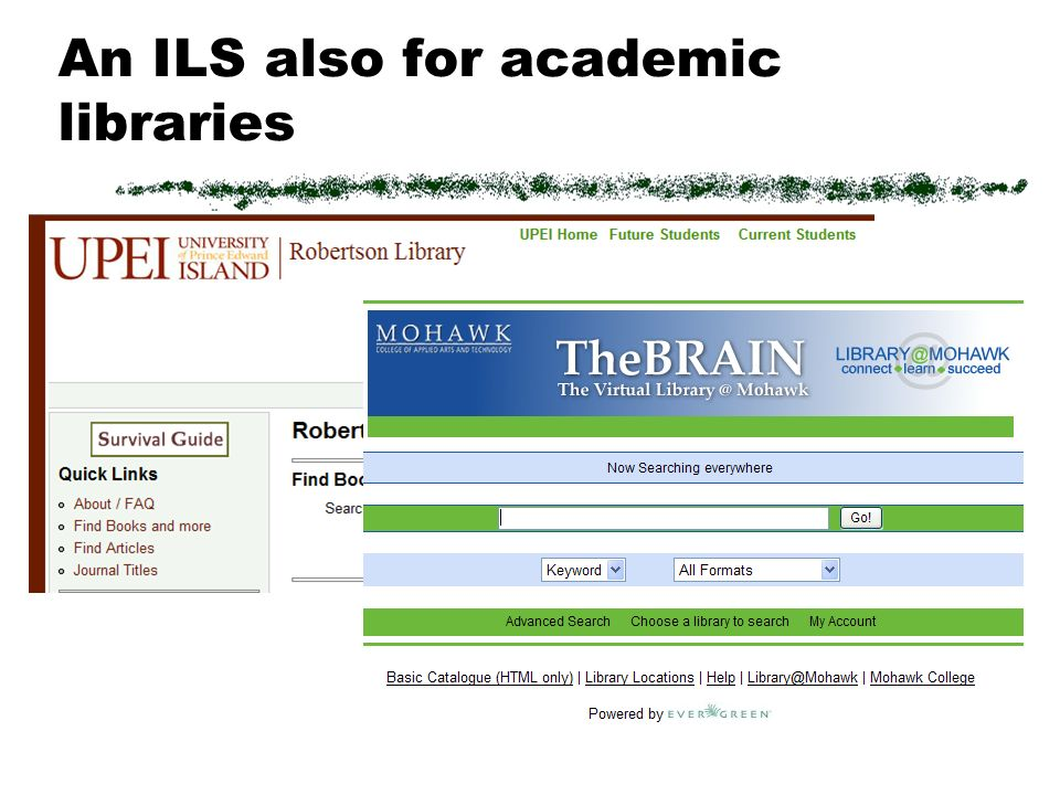An ILS also for academic libraries
