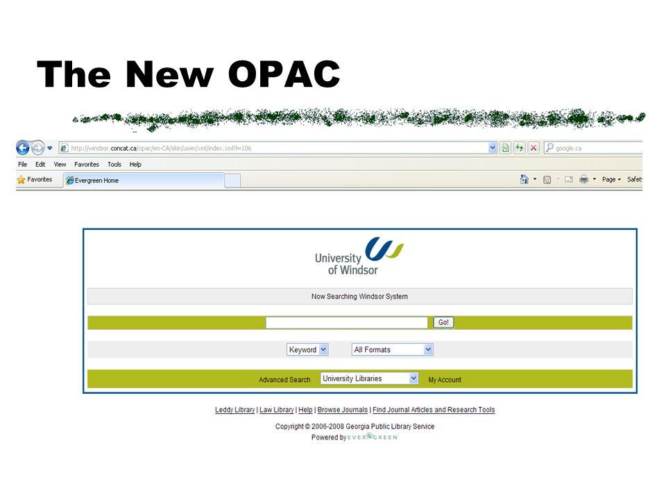 OPAC Customizations P. Zimmerman, 2009