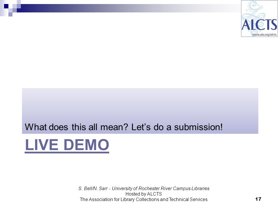 LIVE DEMO What does this all mean. Lets do a submission.