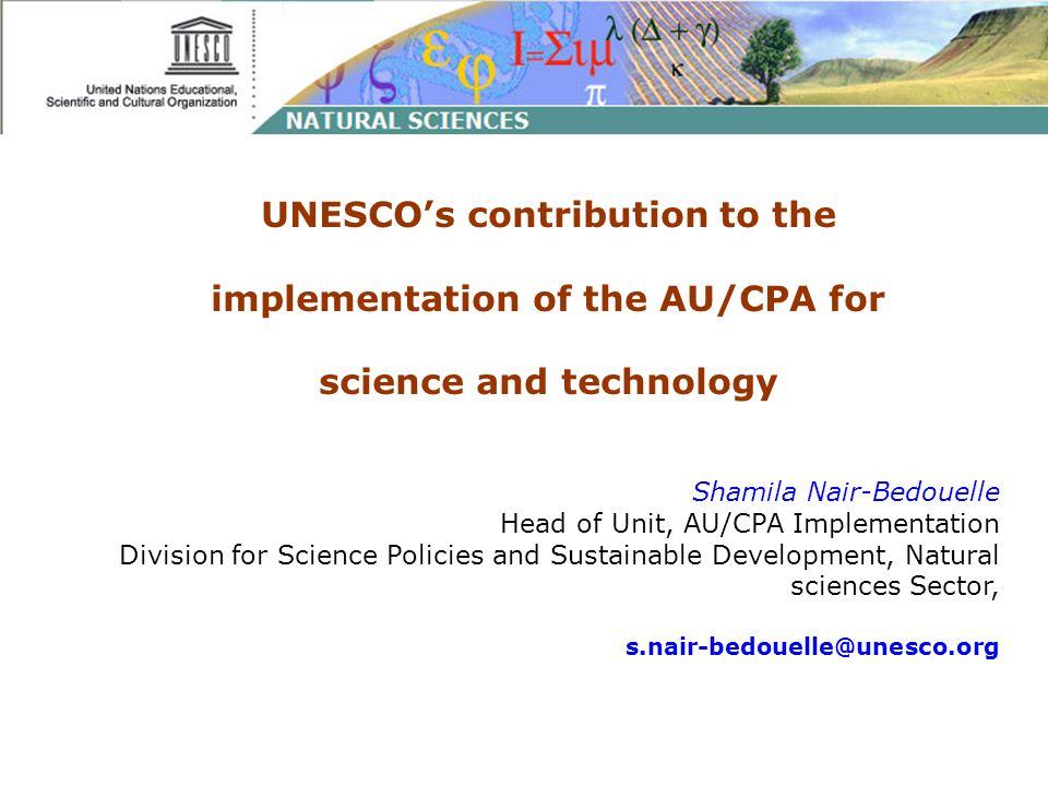 Women in Science International Report on S.T.