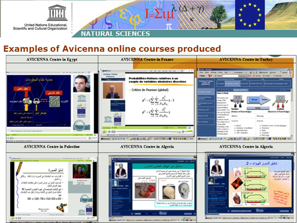 Examples of Avicenna online courses produced