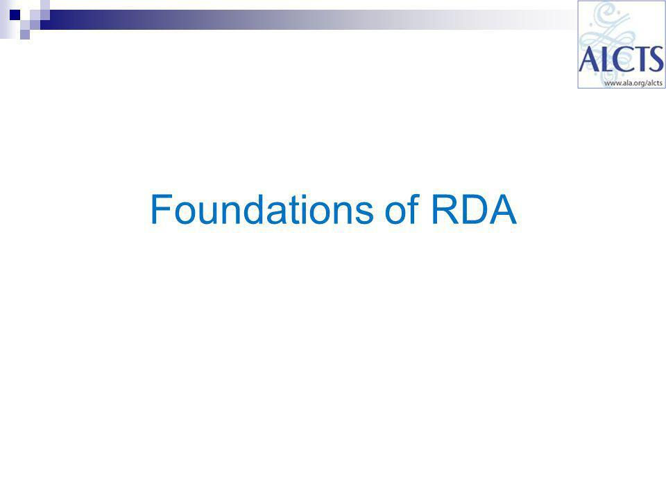 Foundations of RDA