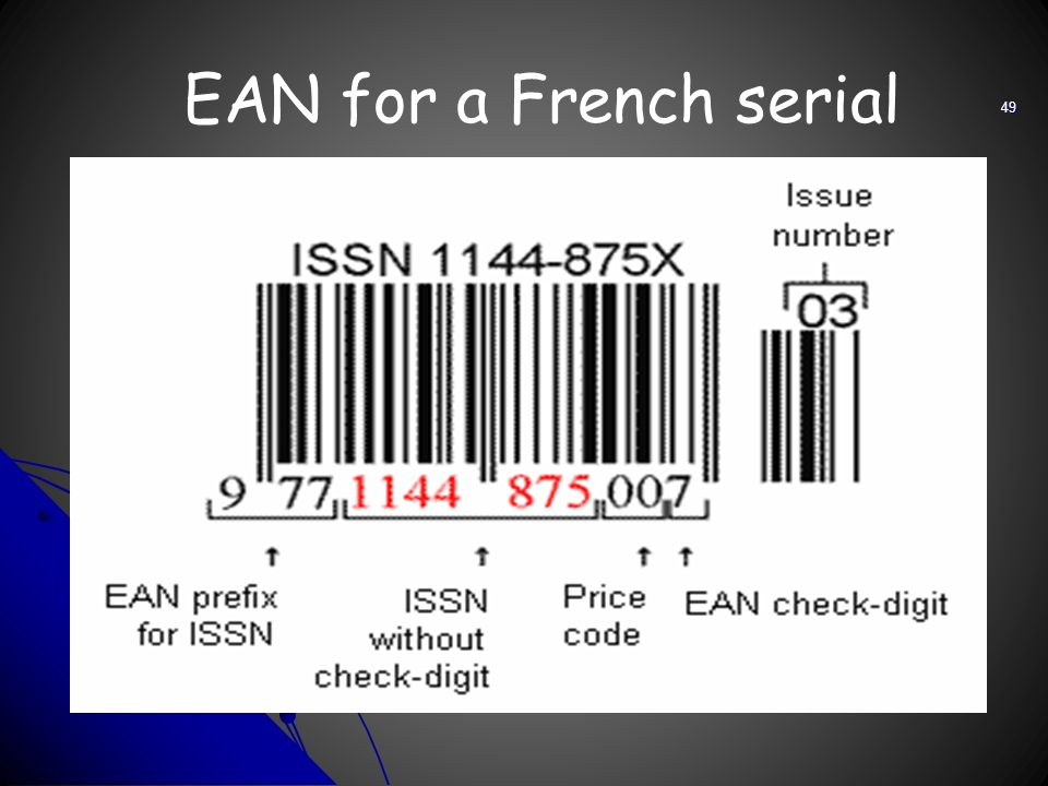 EAN for a French serial 49