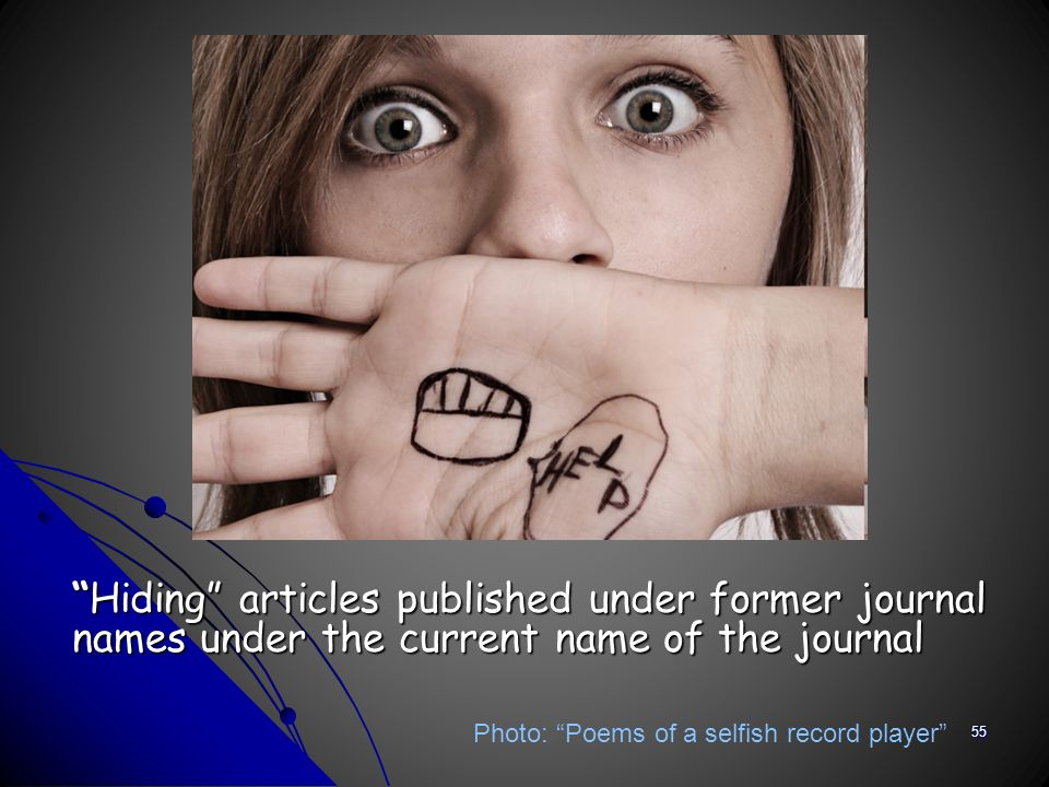 Hiding articles published under former journal names under the current name of the journalHiding articles published under former journal names under t
