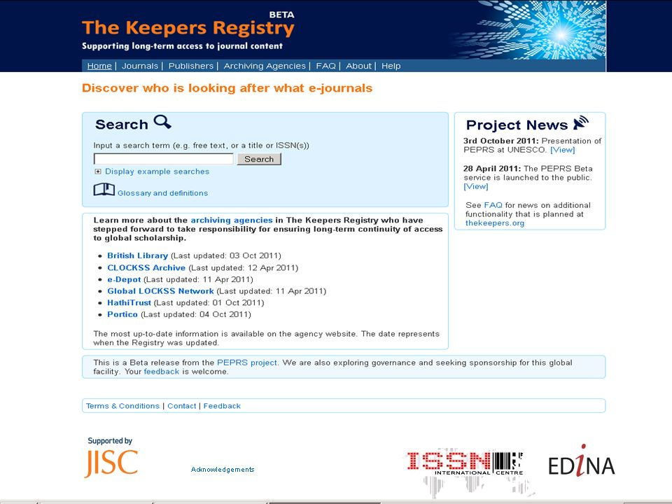 Keepers Registry