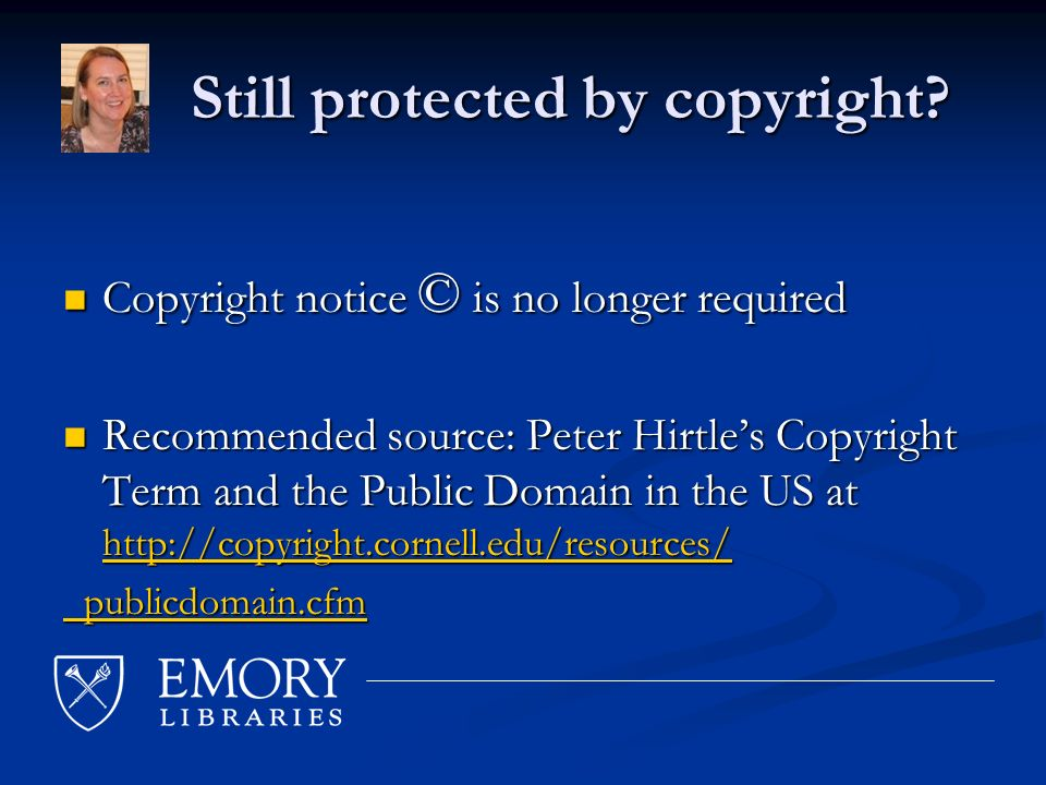 Still protected by copyright. Still protected by copyright.