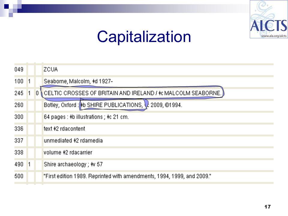 17 Capitalization