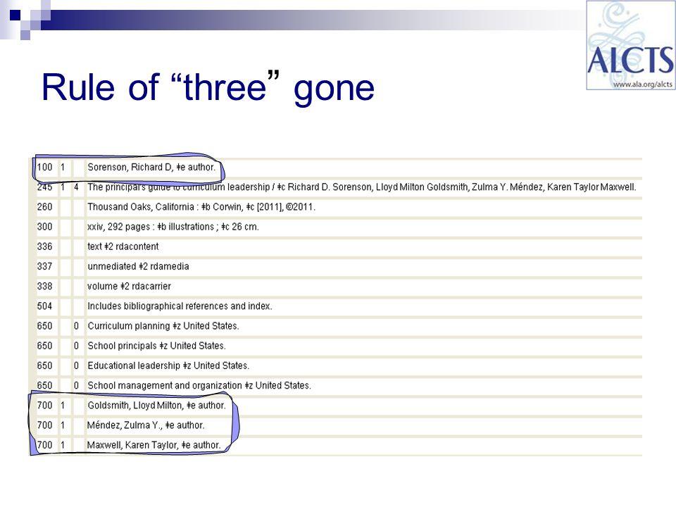 Rule of three gone