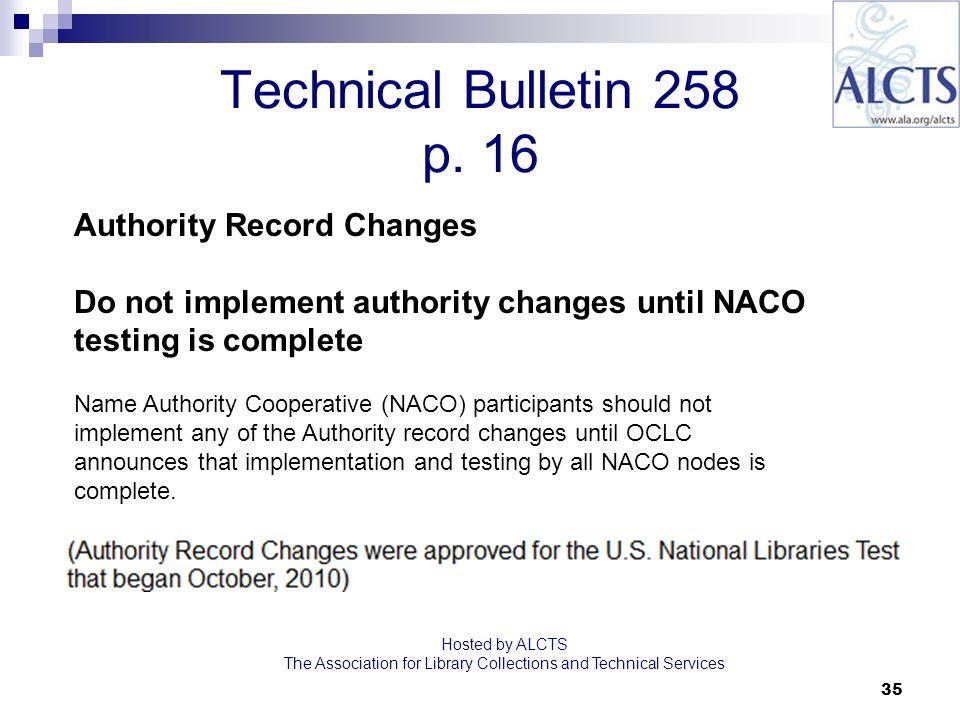 35 Technical Bulletin 258 p.