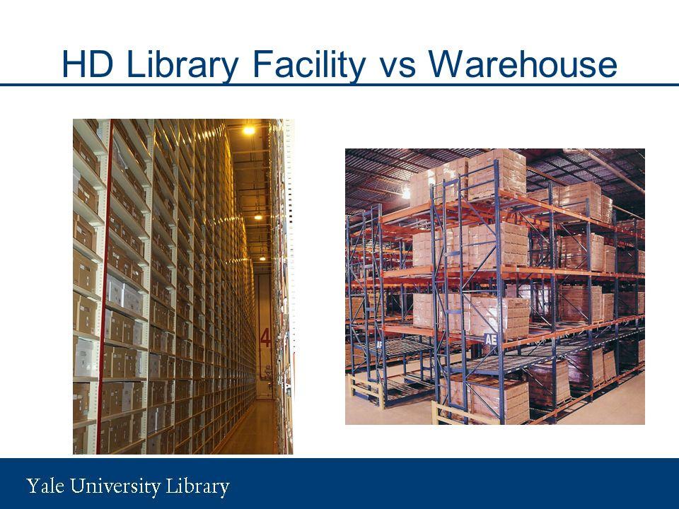 HD Library Facility vs Warehouse
