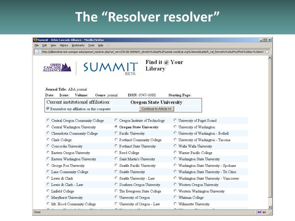 The Resolver resolver