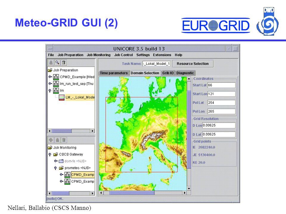 Meteo-GRID GUI (2) Nellari, Ballabio (CSCS Manno)