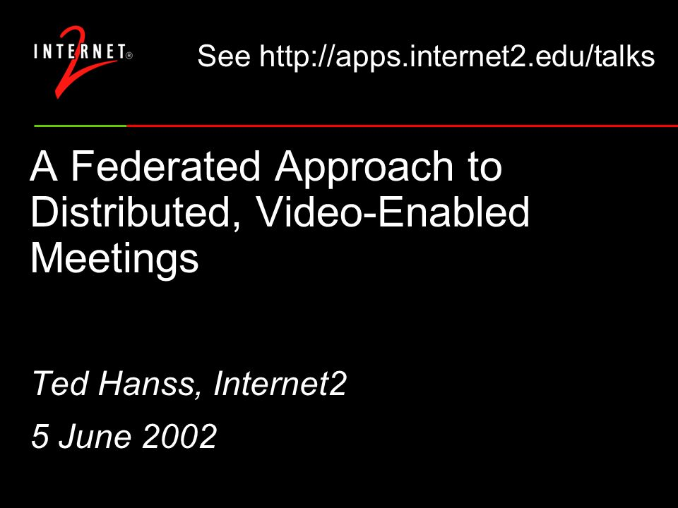 Lessons Learned Isolate feeds for TV, netcast, and archives Its easier to distribute video than audio Its difficult to manage production values across multiple remote sites Did not replace the need for face-to-face meeting This was a community production