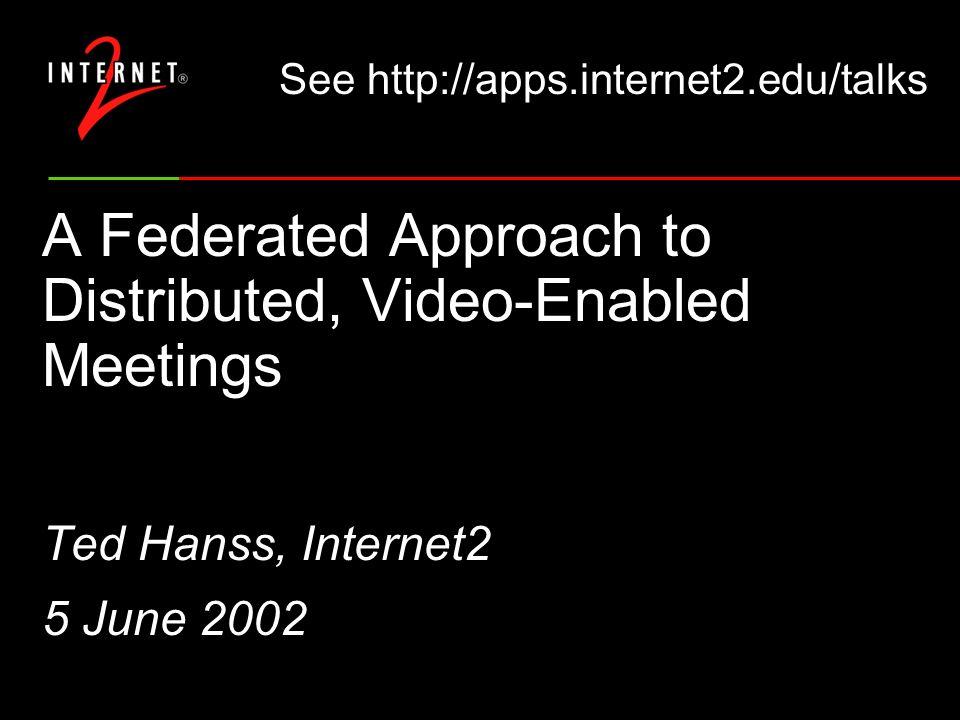 Agenda Virtual Internet2 Member Meeting (VIMM) Internet2 Commons Monthly Virtual Briefings