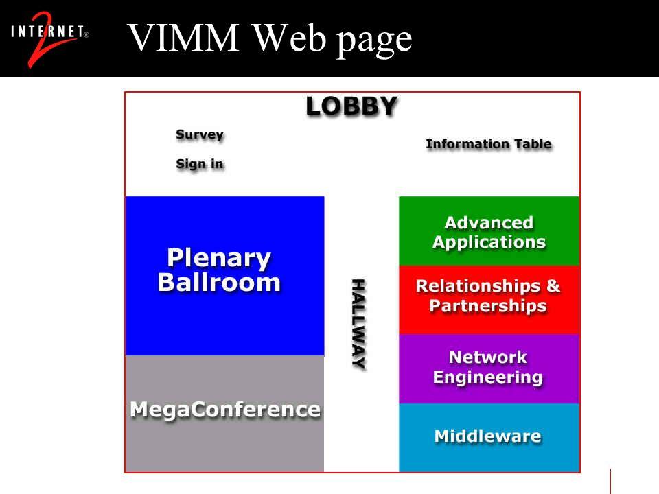 VIMM Web page