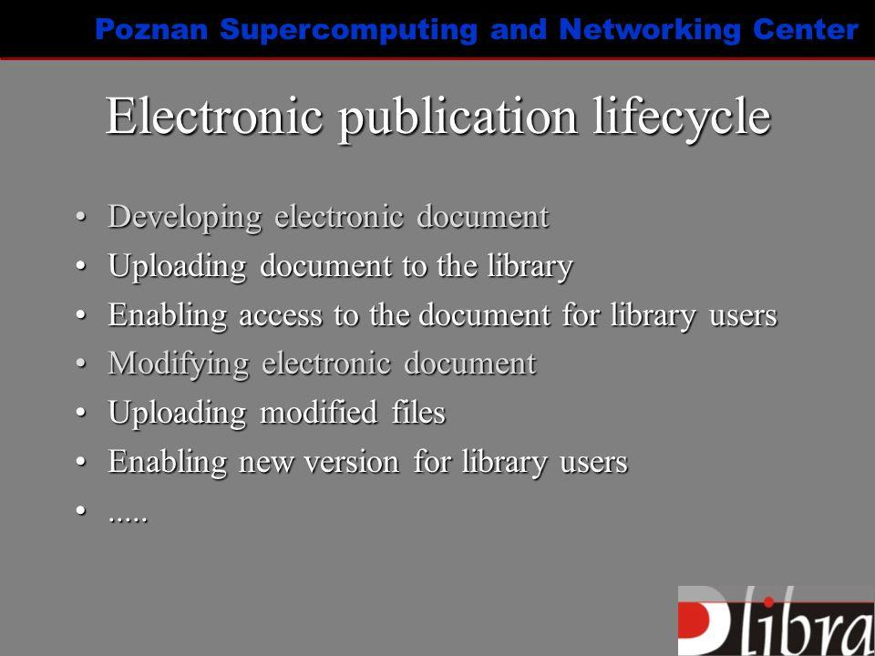 Poznan Supercomputing and Networking Center dLibra – Startup screen