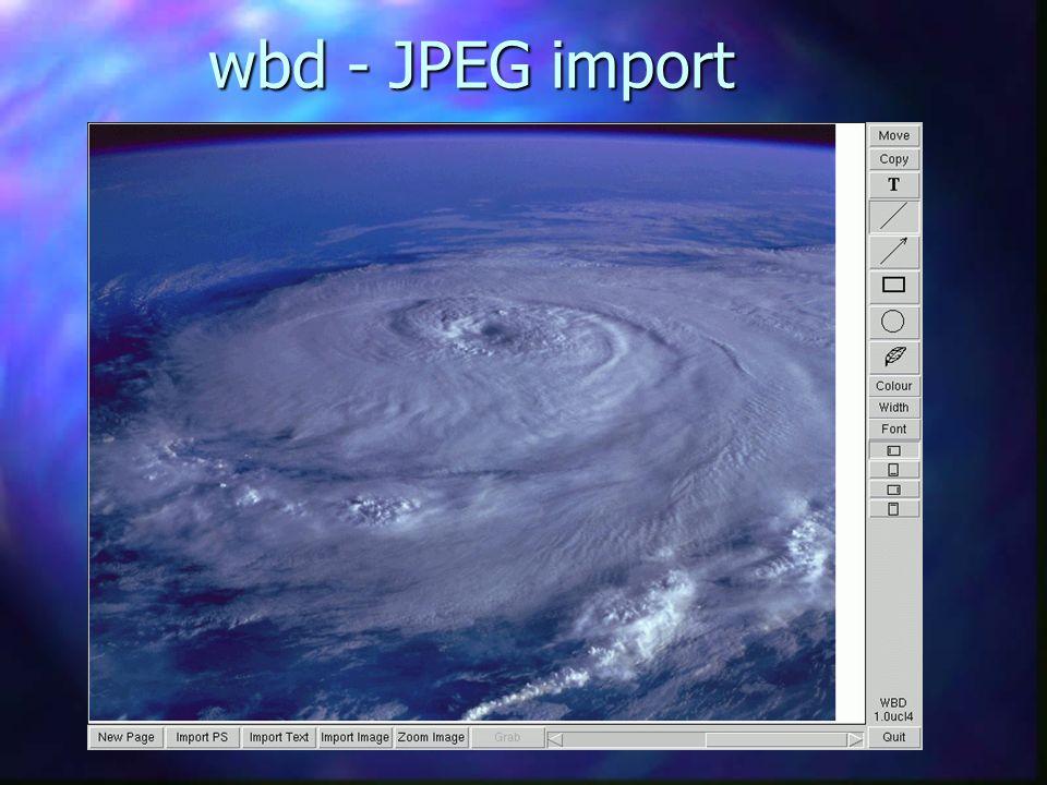 wbd - JPEG import