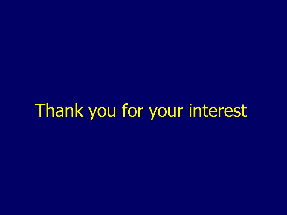 Thank you for your interest