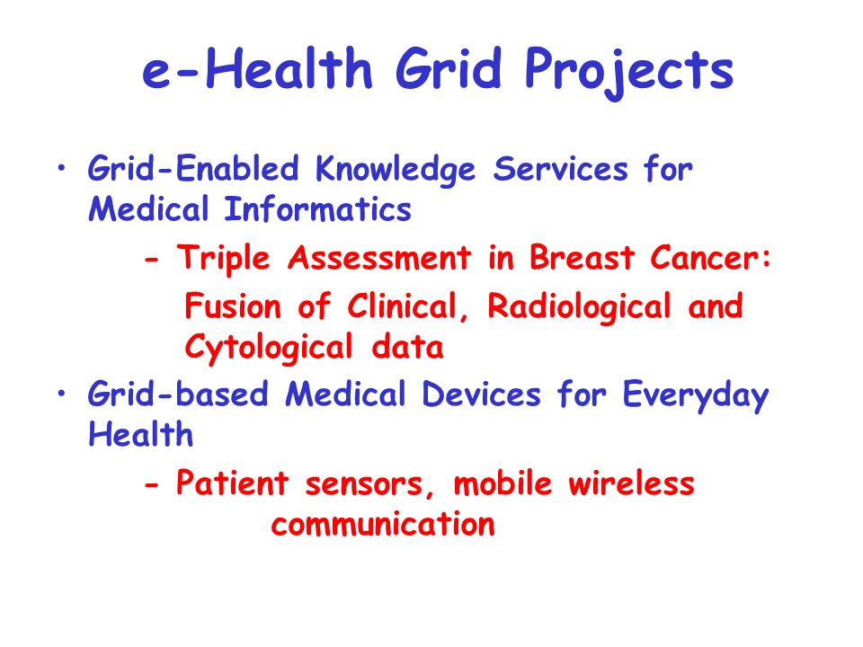 Equator: Technological innovation in physical and digital life AKT: Advanced Knowledge Technologies DIRC: Dependability of Computer-Based Systems MIAS: From Medical Images and Signals to Clinical Information e-Health Grand Challenge