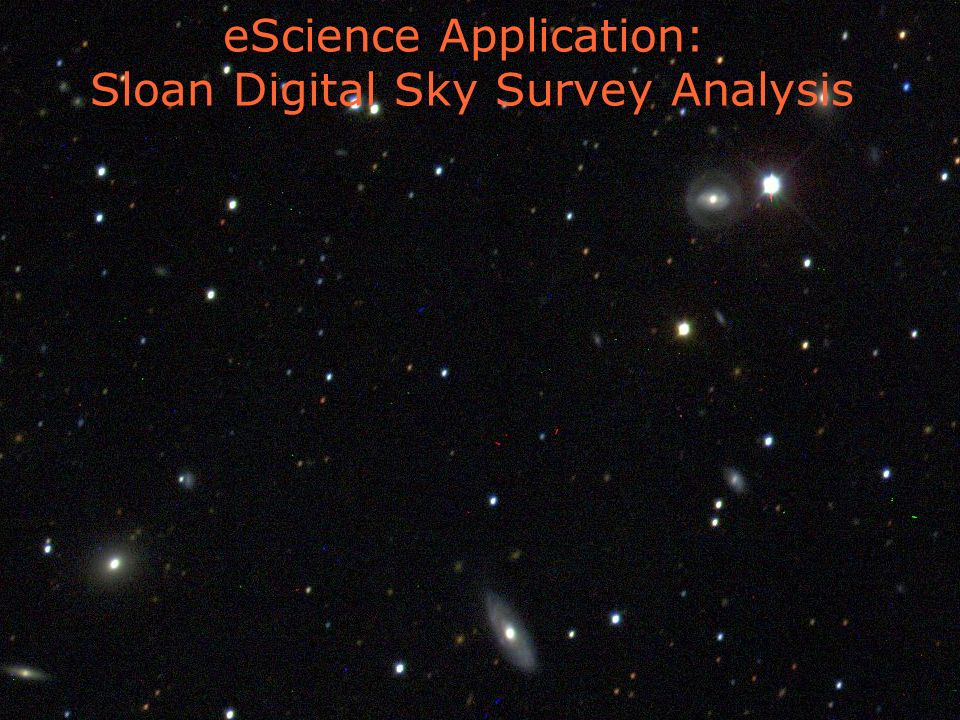 4 foster@mcs.anl.gov ARGONNE CHICAGO eScience Application: Sloan Digital Sky Survey Analysis
