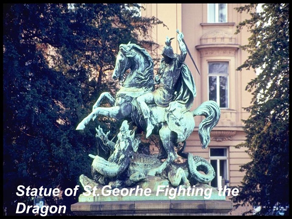Statue of St.Georhe Fighting the Dragon