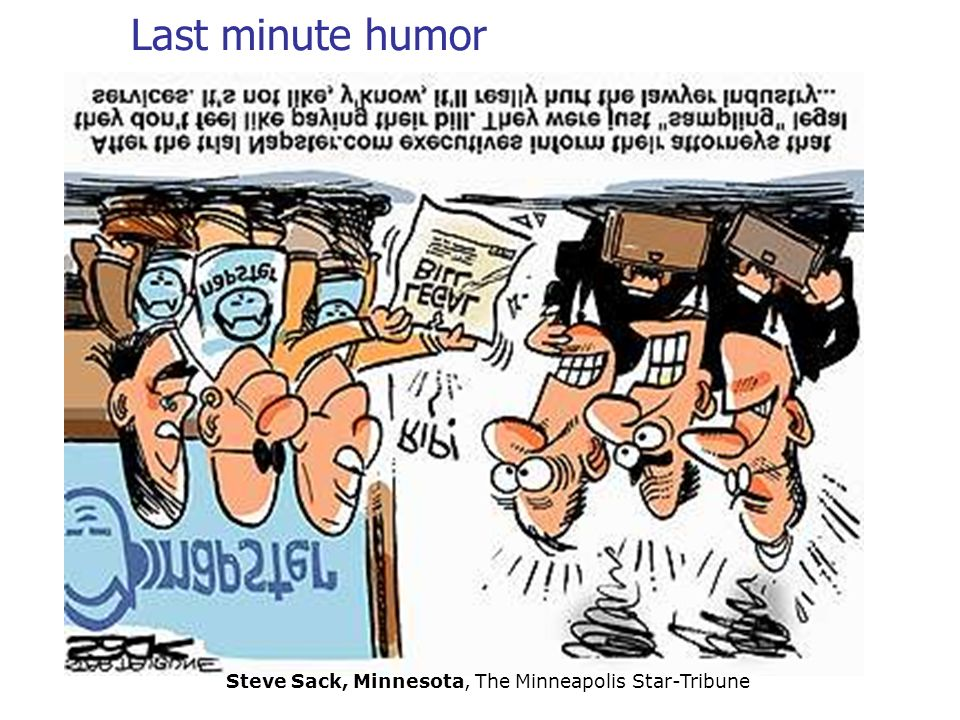 Last minute humor Steve Sack, Minnesota, The Minneapolis Star-Tribune