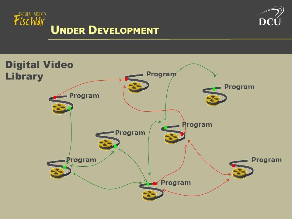 Digital Video Library U NDER D EVELOPMENT Program