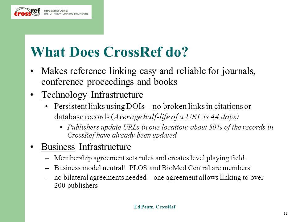 11 Ed Pentz, CrossRef What Does CrossRef do.