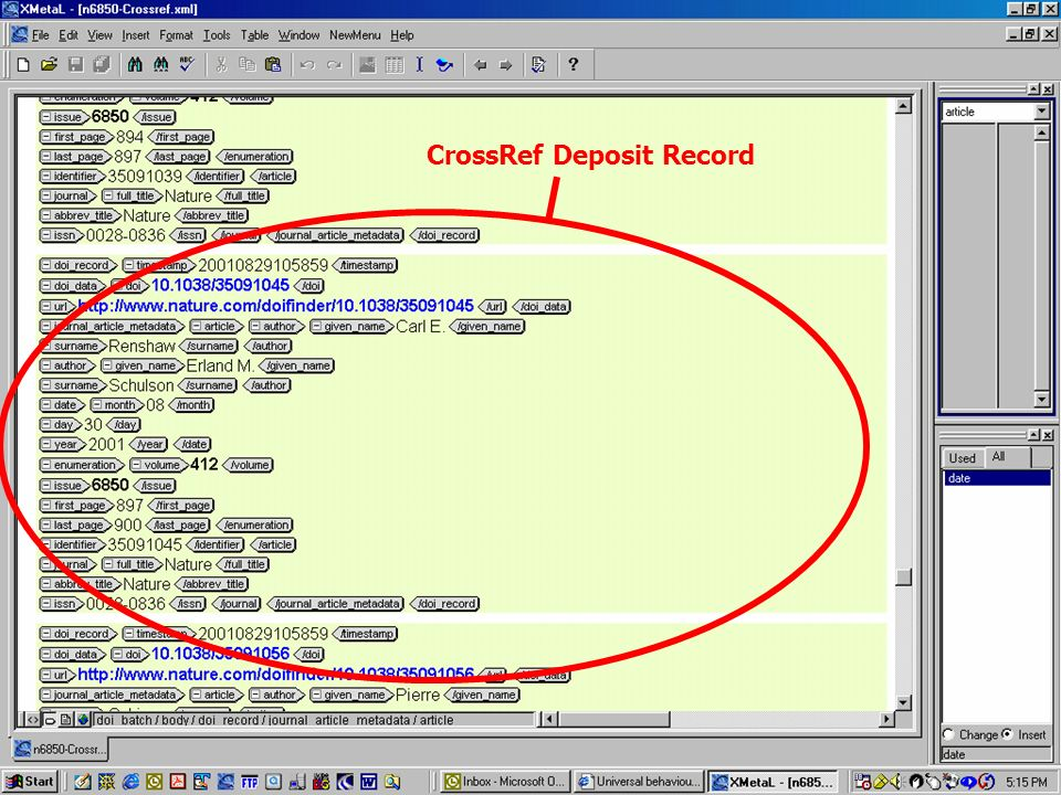 CrossRef Deposit Record