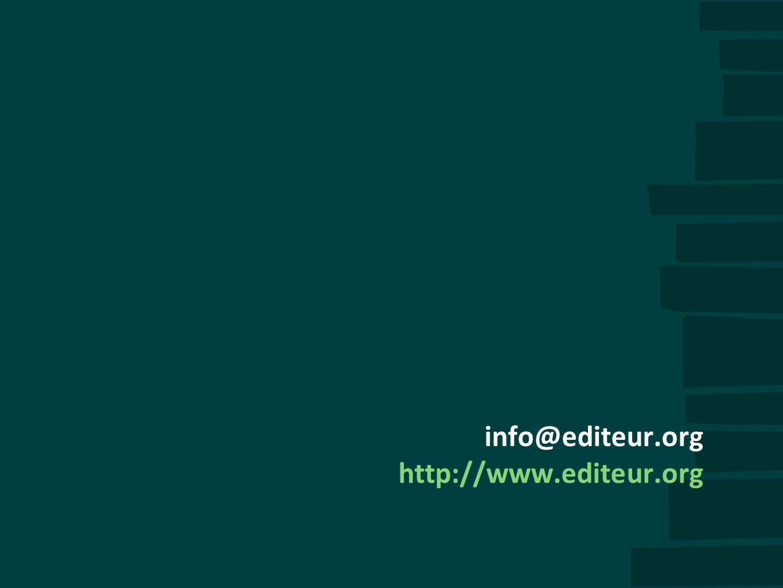 info@editeur.org http://www.editeur.org