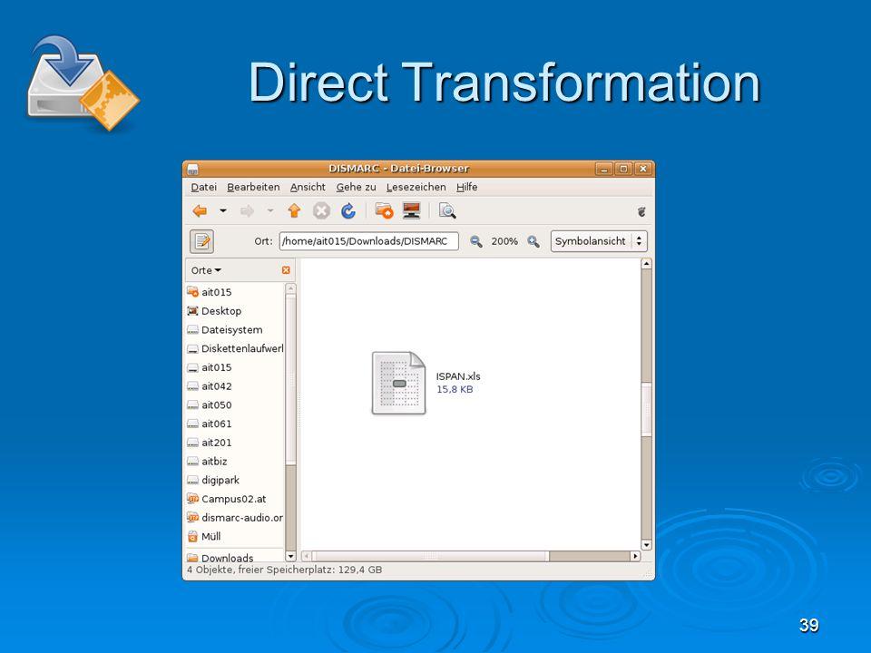 39 Direct Transformation