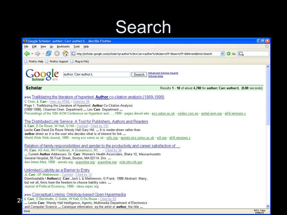 25/01/2005University of Southampton Search