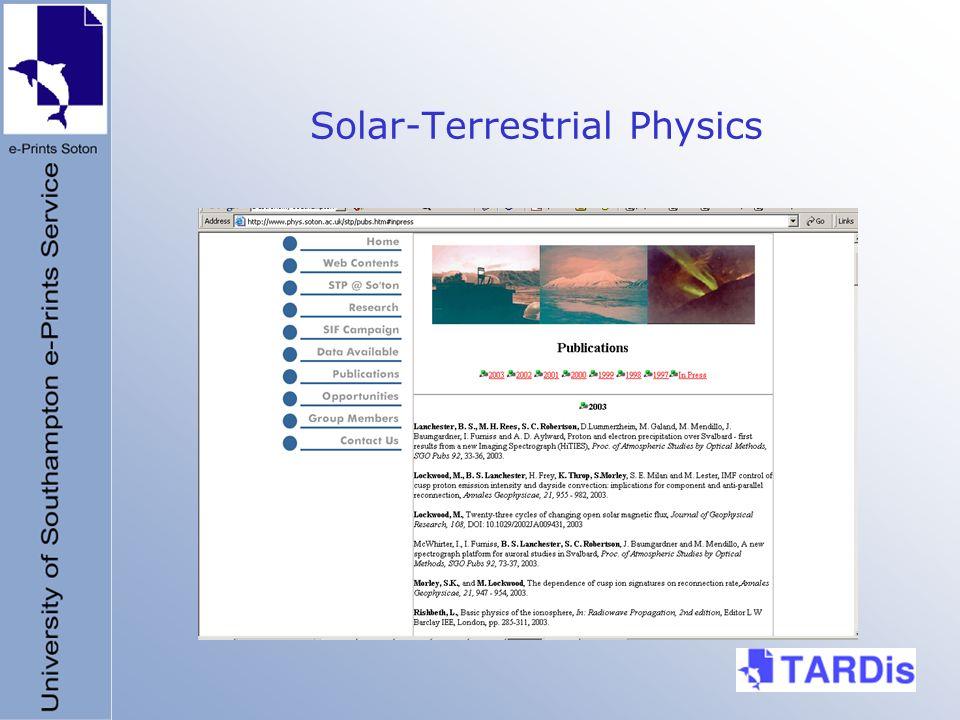 Solar-Terrestrial Physics